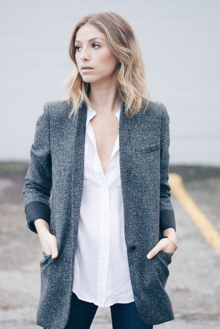 isabel marant inspired tweed blazer | Tomboy Style @alteratnsneeded