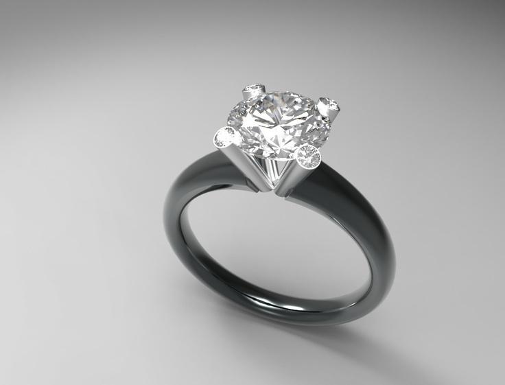 Montatura # diamante solitario. #Design BressanDesignStudio.