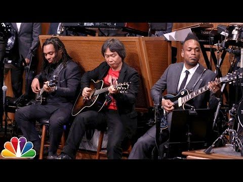 "The Tonight Show Starring Jimmy Fallon: Shigeru Miyamoto and The Roots Perform ""Super Mario Bros. Theme"""