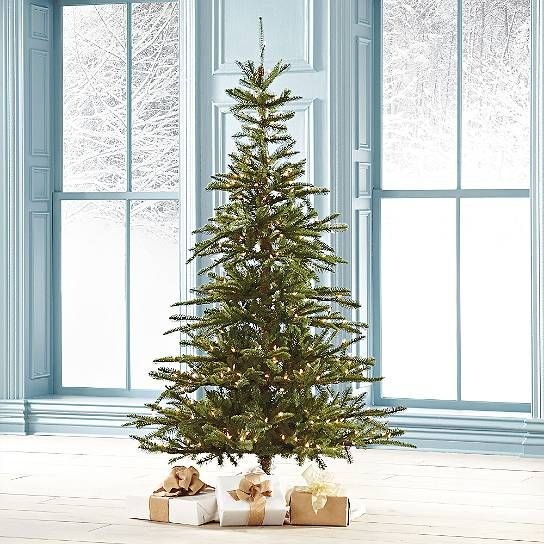 Types Of Fir Trees For Christmas: Pre-Lit Noble Fir Artificial Christmas Tree