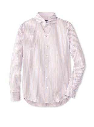 72% OFF Zachary Prell Men's Spencer Striped Long Sleeve Shirt (Blue/Pink)