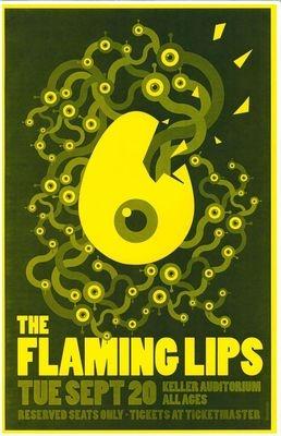 Flaming Lips 2011 Gig Poster Portland Oregon Concert