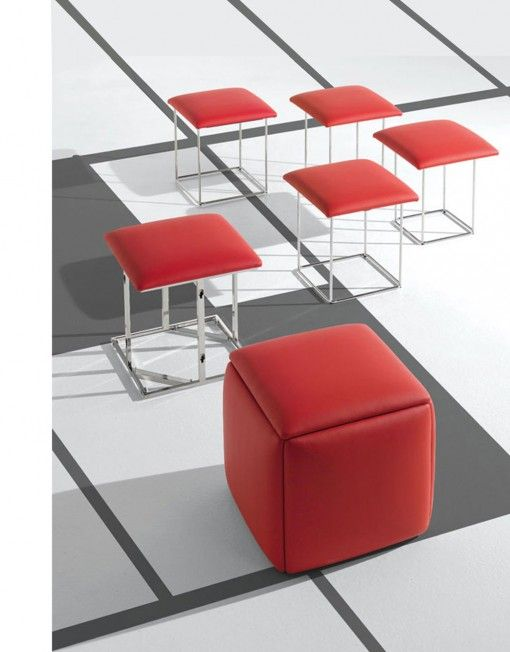 Ottoman Turns Into 5 Chairs! Clever Space Saver From Expand Furniture |  Foldable Chairs | Pinterest | Space Saver, Ottomans And Cubes