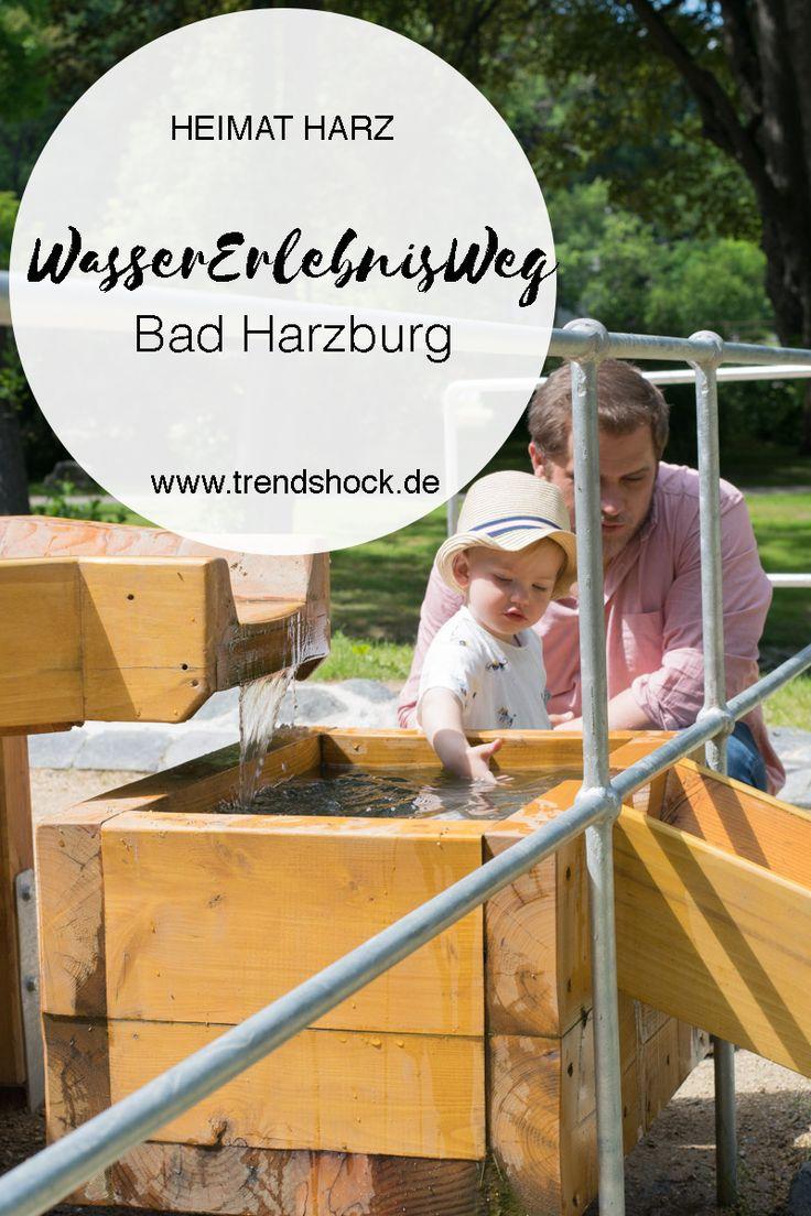 Ausflug im Harz Bad Harzburg zum WasserErlebnisWeg Wasser Erlebnis Weg im Kurpark Goslar Kinder Kleinkinder Spaß Wasserspielplatz Wasser Spielplatz Ziele