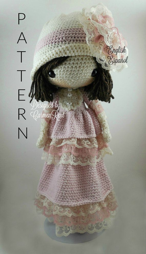 ATTENTION - Keep in mind that this is a crochet pattern in a PDF. This is NOT the finished product.  Dorle is approximately 17 inches tall. Also, please keep in mind that this doll cannot stand up on its own.  This is a non-refundable purchase. Once the payment has been confirmed you will be allowed to download the pattern in a PDF. The language in the pattern is in English and Spanish only. The pattern includes all of the yarn colors I used for the doll, however, you are free to experiment…