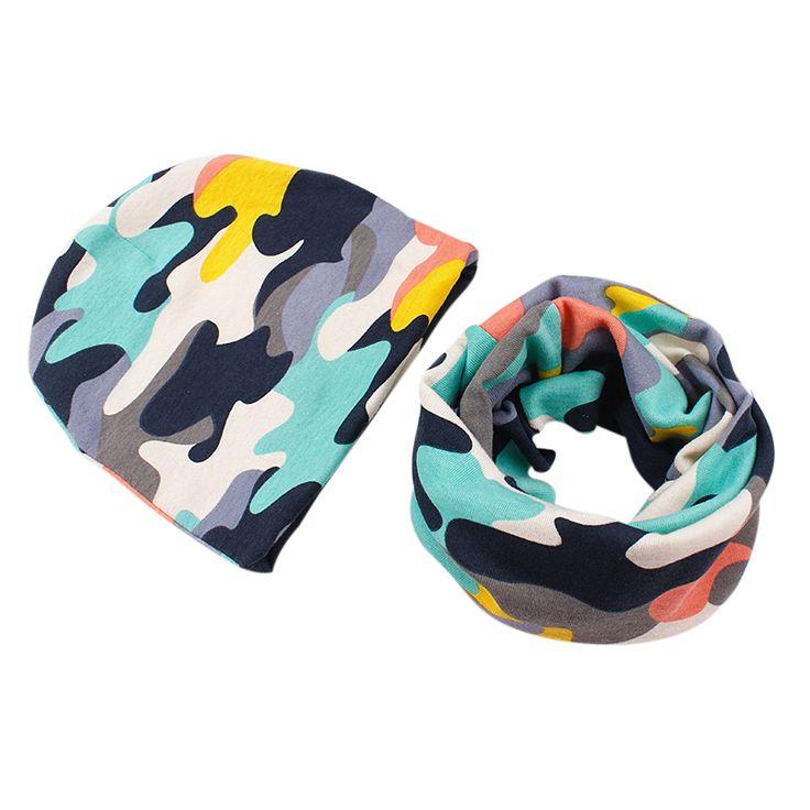 Новый 100% хлопок детские hat шарф набор Розничная высокое качество мальчики девушки дети шляпа шарф детские шапки детей шапки шарф крышка младенца йо #CLICK! #clothing, #shoes, #jewelry, #women, #men, #hats