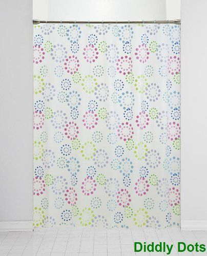 Nip Diddly Dots PEVA Shower Curtain By Saturday Knight New