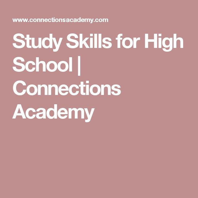 Study Skills for High School | Connections Academy
