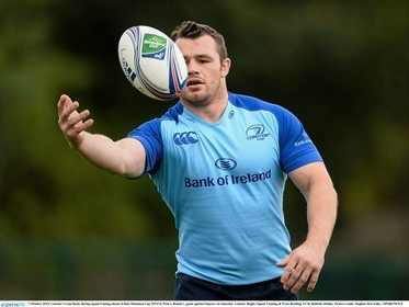Cian Healy controls a ball with his mind. Skills.