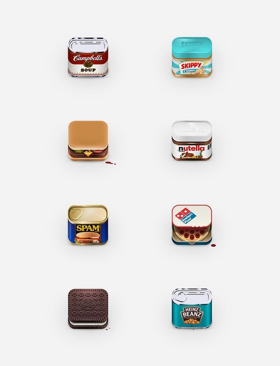 food icon design by Julian Burford:
