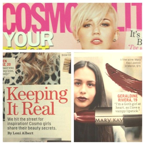 Cosmopolitan reveals in their March issue that one of their beauty secrets is using Mary Kay® Creme Lipstick in Merlot for a vampy look!