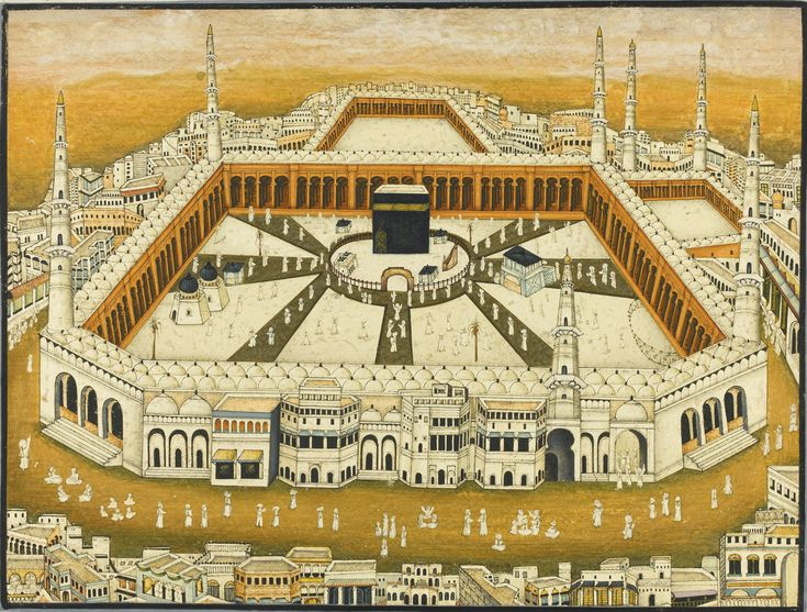 A miniature view of Mecca (India, 19th century) | lot | Sotheby's