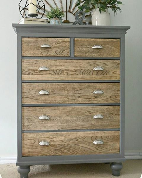 Best Modern Rustic Dresser Grey And Wood Drawers In 2019 400 x 300