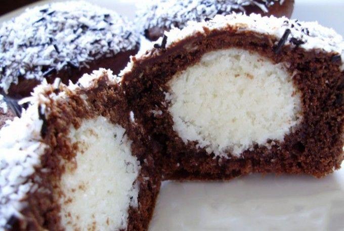 Luxusní muffiny s kokosovým překvapením