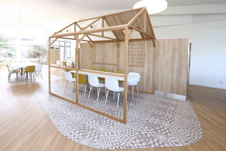 structure bois - mobilier restaurant - ambiance scandinave
