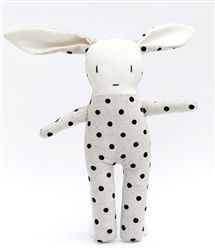 Little Ozzie Spotty Linen Rabbit