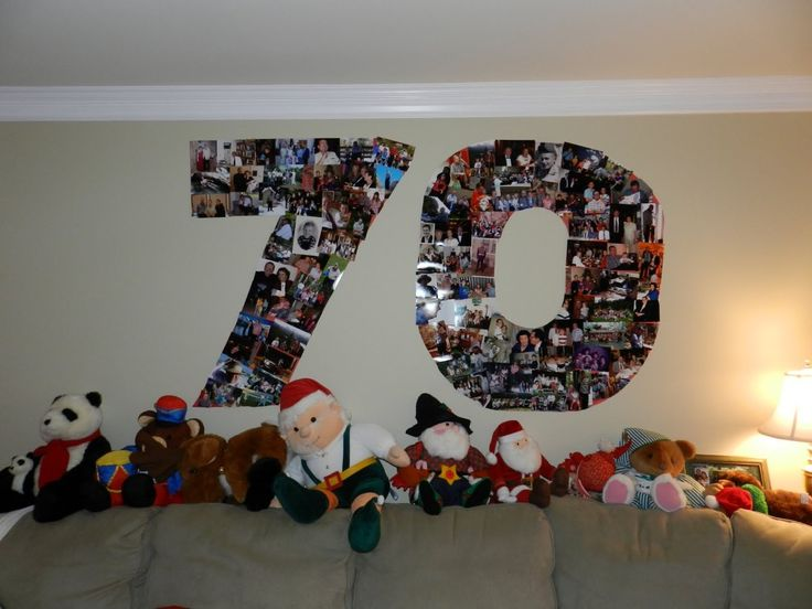 There are a lot of different 70th birthday party ideas for 70th birthday decoration