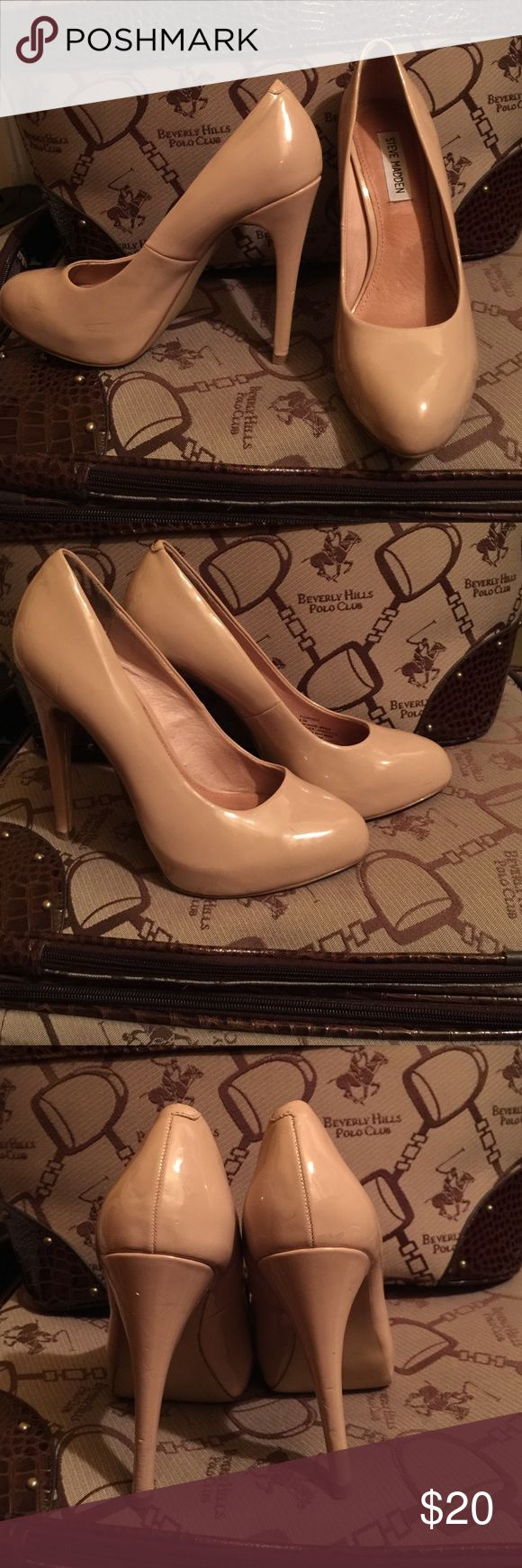Steve Madden Cream High Heels They're in great condition. Only wore once or twice. Steve Madden Shoes Heels