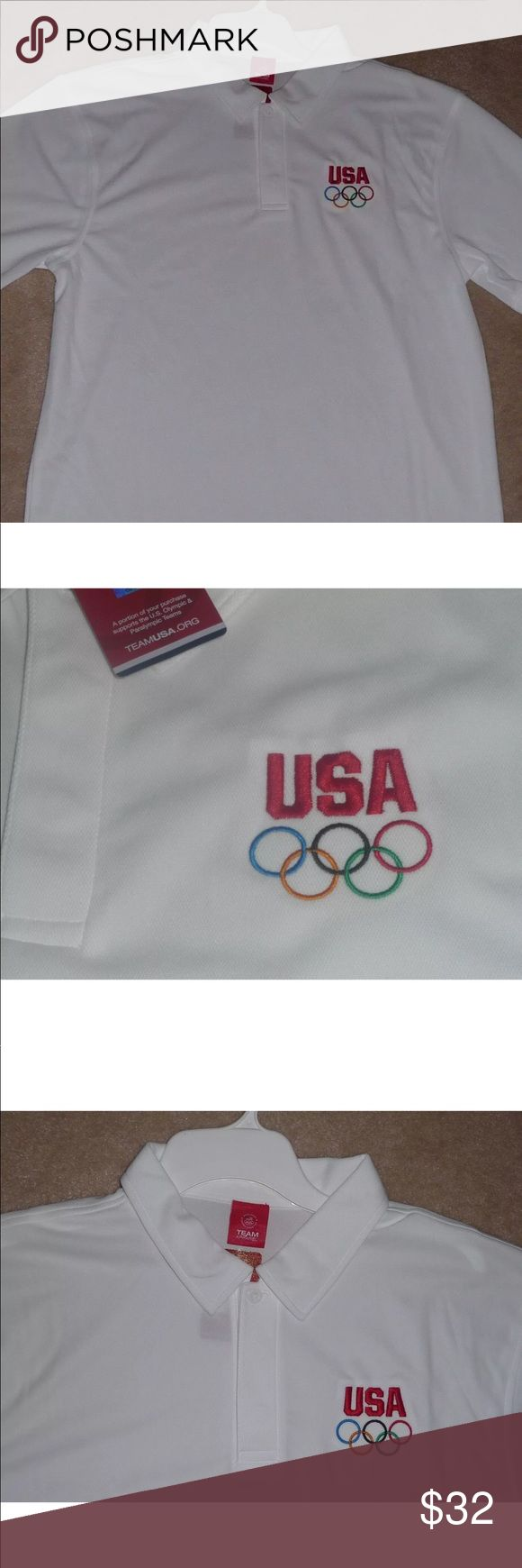 New Official Olympic Polo Golf Shirt XL NEW OFFICIAL OLYMPIC GOLF SHIRT  These shirts run big. Shirts Polos