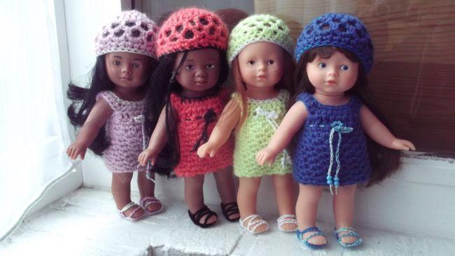 Tuto mini corolline robe et bonnet