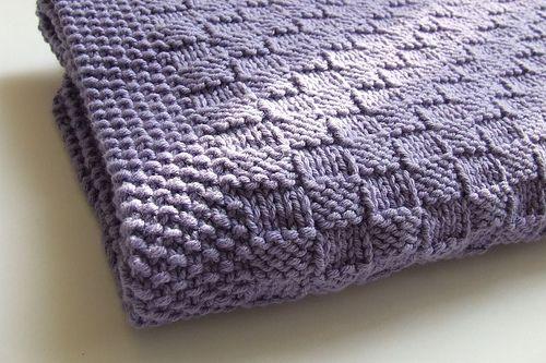 Basketweave blanket | knitting | Pinterest