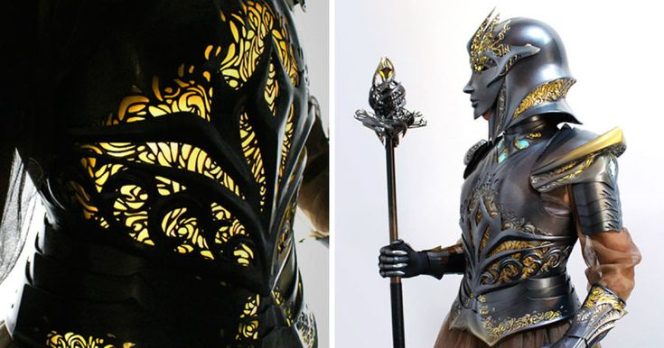 I Spent 518 Hours Making This Futuristic Medieval Armor That Is Lit From Inside And Flexible | Bored Panda