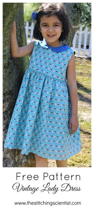 Free Vintage Lady Dress Pattern | Sewing children's clothing