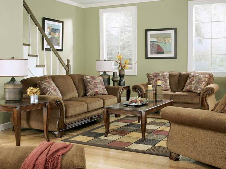 Living Room With Brown Couch   Google Search