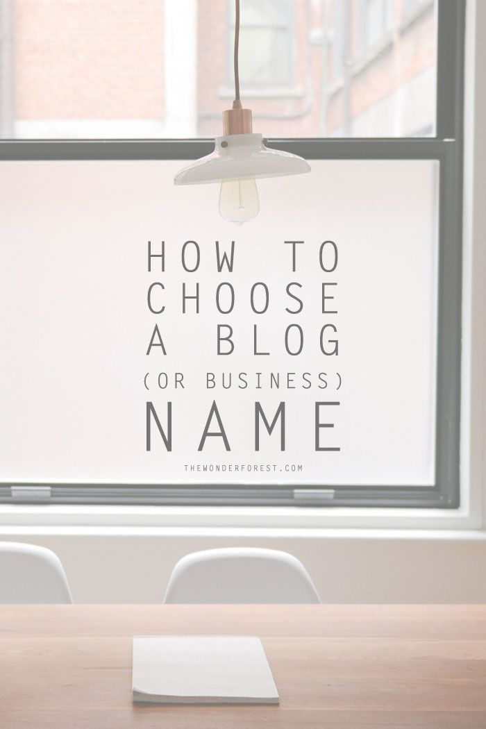How To Choose A Blog Or Business Name