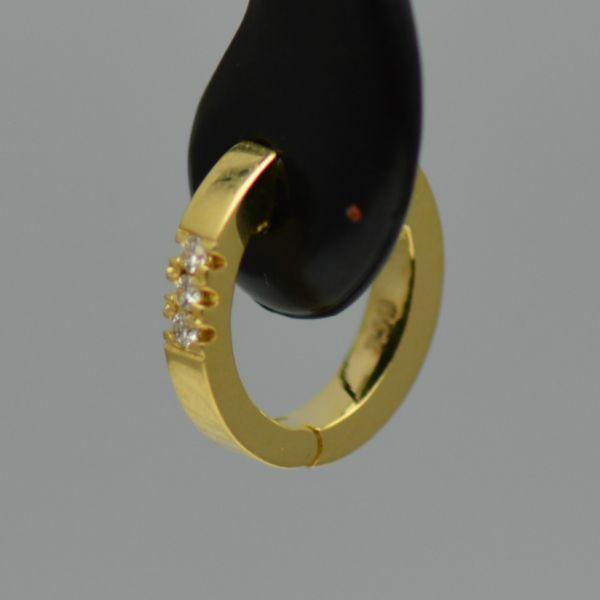 Cercei aur galben cu diamante rotunde