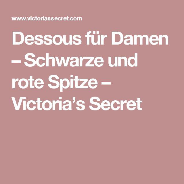 Dessous für Damen – Schwarze und rote Spitze – Victoria's Secret