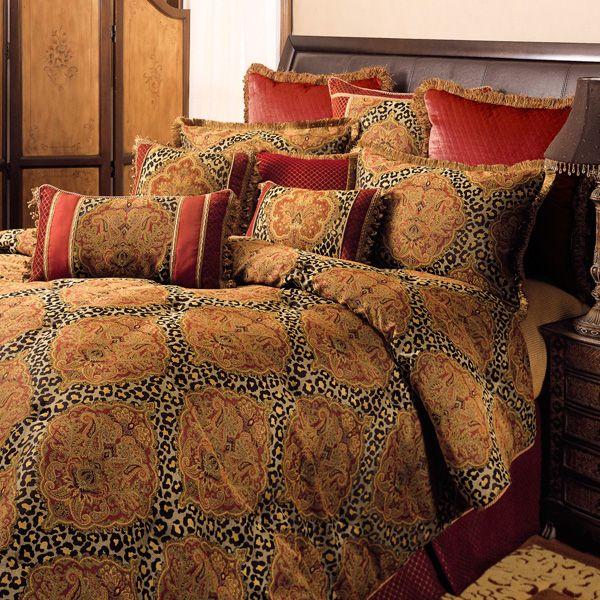 Temara Damask Leopard Print Comforter Bedding Comforter Sets