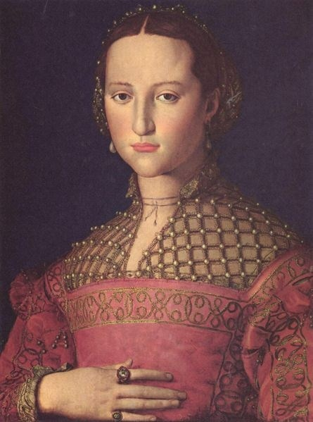 Eleanor of Toledo circa 1543 by Bronzino, she would've been 21