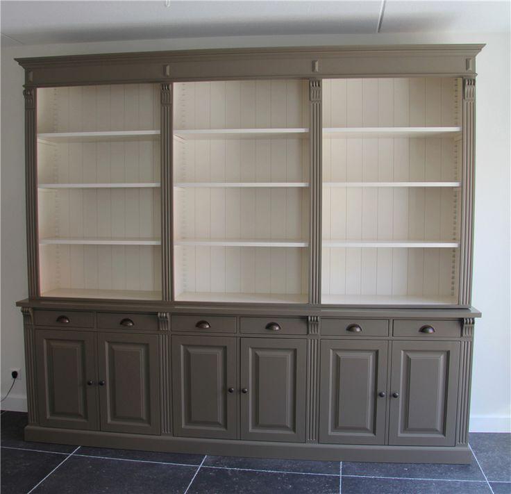 Landelijke boekenkast