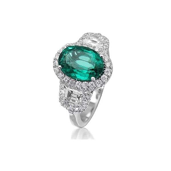 Emerald and Diamond Engagement Ring  BGRT2320_2321EJF