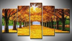 Online Shop hand-painted The Gold road the Space ,Large Handmade Modern Canvas Oil Painting Wall Art ,Free Shipping Worldwide dy-175|Aliexpress Mobile