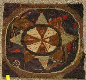 17 Best Images About Antique Hooked Rugs On Pinterest