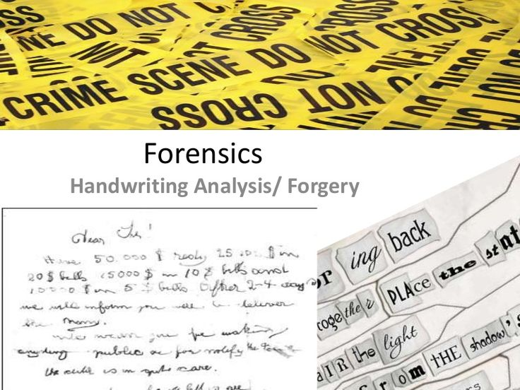 Forensic Handwriting Expert, CFDE