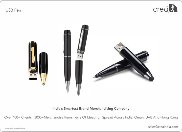USB Pen for corporates by Crea - India's smartest brand merchandising company.
