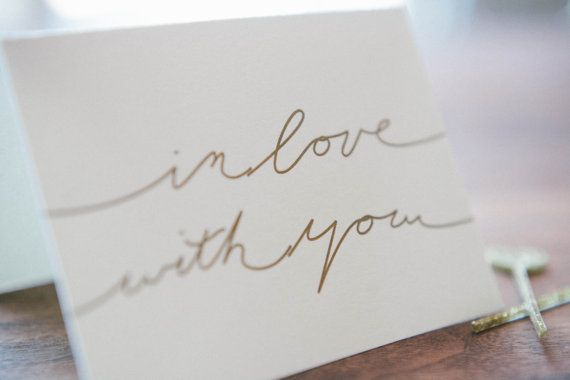 Letterpressed Valentine's Card on Etsy. Sometimes simple sentiments are the best.