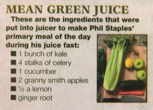 Mean Green juice
