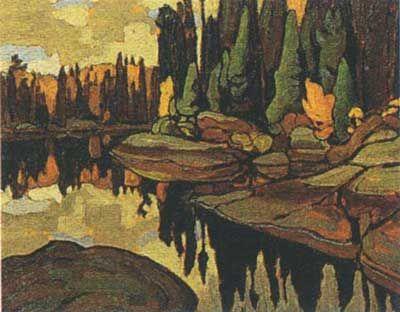 Lawren Harris,  Algoma Reflections Fine Art Reproduction Oil Painting