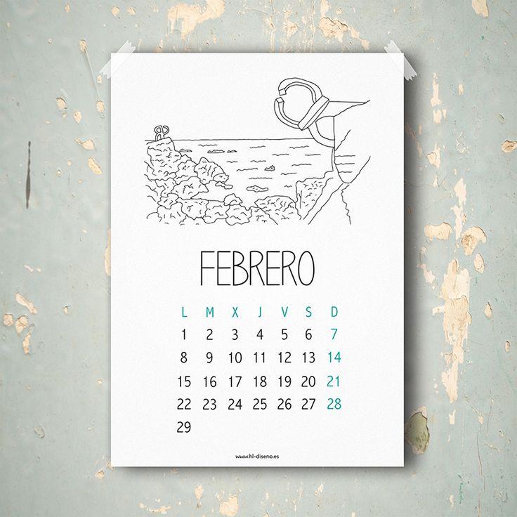 Calendario Febrero 2016 descargable gratis