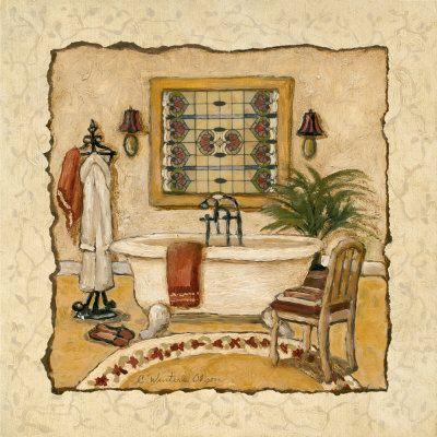 Art Deco Bath II (Charlene Winter Olson)