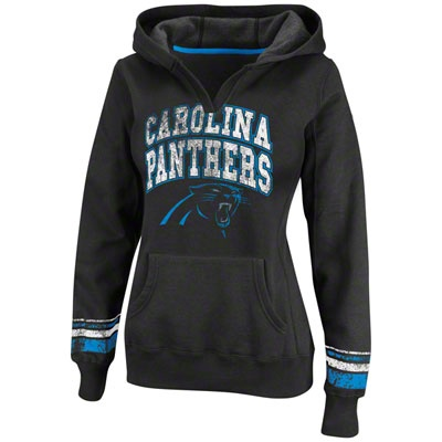 Carolina Panthers Black Women's Pre-Season Favorite II Hooded Sweatshirt