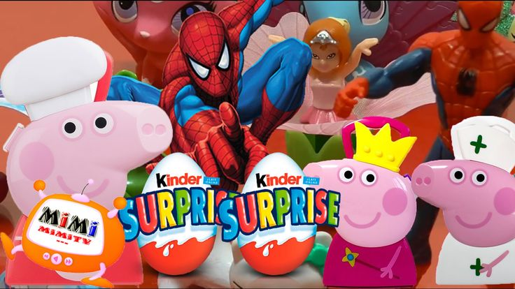 Liked on YouTube: Spiderman en Español con Peppa Pig Juguetes - Huevos Kinder Sorpresa en Español  Juguetes Spiderman