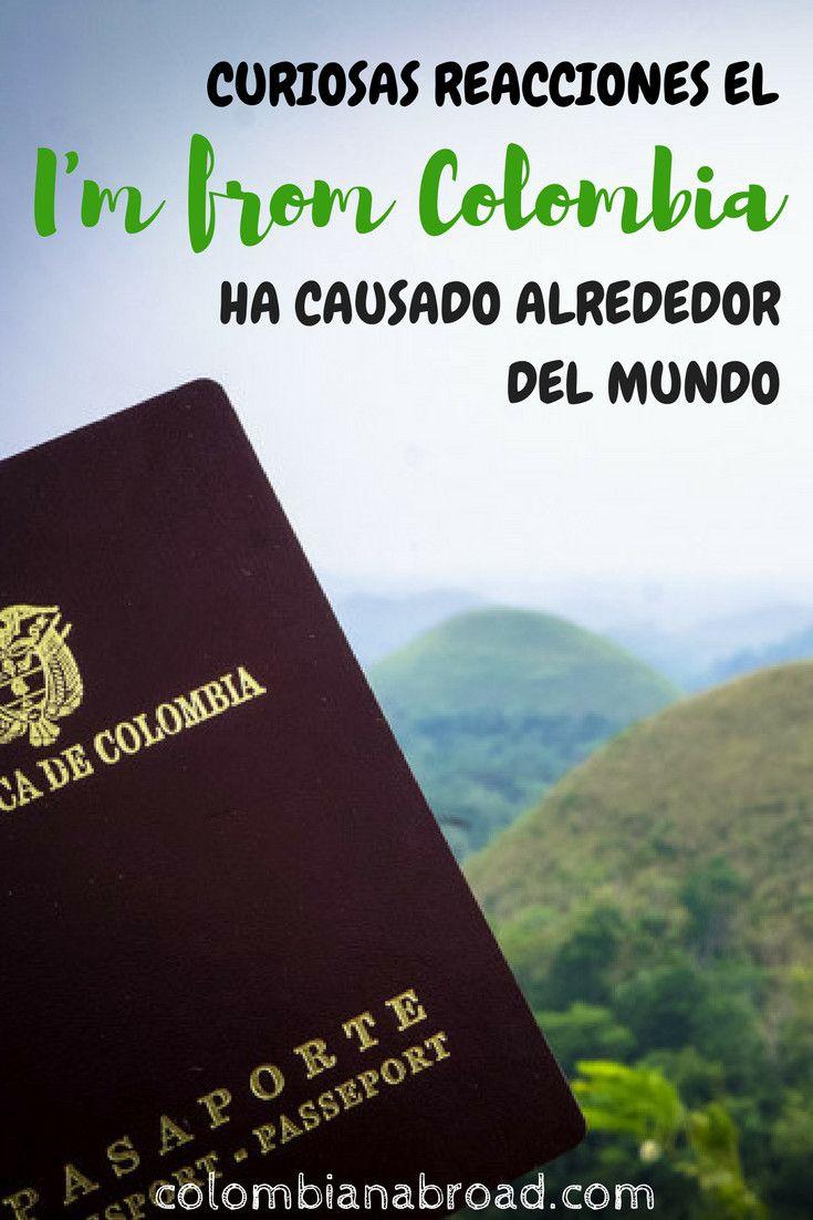 Curiosas reacciones el I'm from Colombia ha causado alrededor del mundo