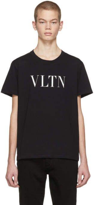 Valentino Black VLTN T-Shirt  7b12e4c146a