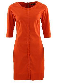 TURNOVER Kleid, 14252590216/W03846/35679 Edles Kleid in mercerisierter Baumwolle, Leiste auf der Vorderseite und überschnittene Ärmel. Von TURNOVER.