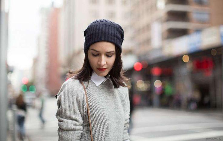 Cappelli a maglia, schemi e foto - Cappello sulla fronte